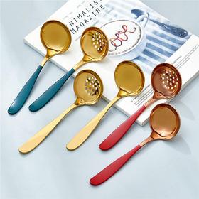 家用304不锈钢加厚西餐调羹汤匙餐具汤勺漏勺盛汤勺子