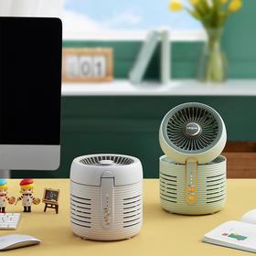 东菱空气净化扇DL-1408家用台式静音电风扇小型空气循环扇空气净化器