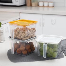 【厨房配件】*多功能冰箱收纳盒透明抽屉式鸡蛋食品冷冻储物盒密封保鲜盒