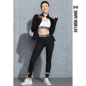 趁早SHAPE经典薄款健身裤瑜伽女弹力紧身中高腰运动长裤CZ8Q1005