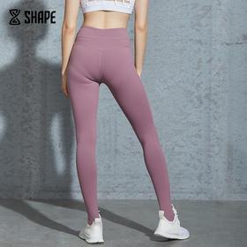 趁早SHAPE中高腰弹力提臀踩脚瑜伽裤 瑜伽训练健身紧身长裤9Q2058
