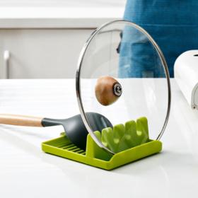 【厨房置物架】*厨房锅铲架子汤勺垫筷子锅盖收纳垫家用多功能优质塑料壁挂置物架