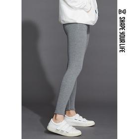 趁早SHAPE冬季加厚加绒保暖弹力紧身裤 外穿显瘦高腰小脚裤9Q4037