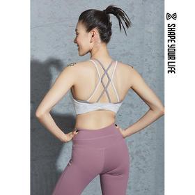 趁早SHAPE细肩带美背健身运动文胸bra聚拢防震性感训练内衣9Q2049