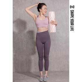 趁早SHAPE拼接高腰弹力运动训练紧身裤弹力提臀瑜伽健身裤0Q2019