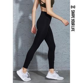 趁早SHAPE弹力跑步健身裤 高腰收腹提臀瑜伽训练紧身裤9Q4042