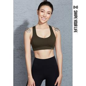 趁早SHAPE高支撑弹力透气运动健身胸衣bra性感聚拢训练内衣0Q1011