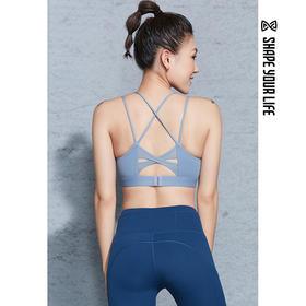 趁早SHAPE纯色美背细肩带运动BRA女防震聚拢健身房训练内衣9Q4033