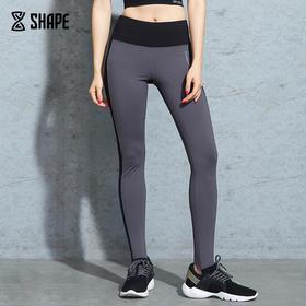 趁早SHAPE 紧身跑步健身瑜珈裤高腰提臀弹力踩脚训练运动裤9Q1007
