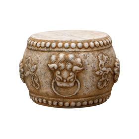 天然石头雕刻汉白玉雕刻石鼓石头摆件底座