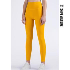 趁早SHAPE弹力提臀健身瑜伽训练紧身裤 高腰外穿运动长裤0Q1014