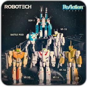 Super7 Robotech 太空堡垒 机甲 机器人 挂卡 复古