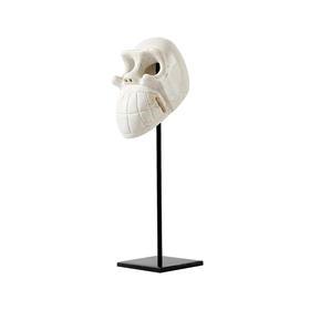 现代轻奢样板房软装饰品人物装饰摆件骷髅头工艺品家居客厅摆设