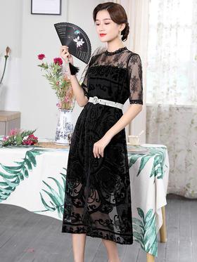DLQ-W0003新款夏轻熟风蕾丝裙子TZF