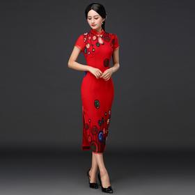 DNS- A2009新款时尚修身优雅复古旗袍TZF