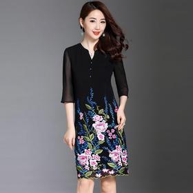 JS6019新款重工刺绣连衣裙TZF