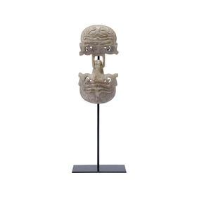 雕刻玉石乌龟扣长寿龟摆件镇宅辟邪乌龟家居软装饰品中式