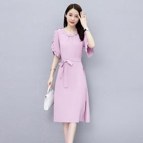 HRFS-WL9029新款时尚优雅气质修身显瘦连衣裙TZF