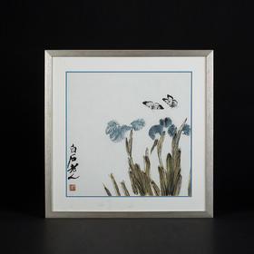 齐白石幽兰蝴蝶图