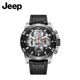 Jeep牧马人系列陶瓷圈口透明表盘手表