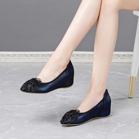 OLD3931新款时尚水钻内增高浅口单鞋TZF