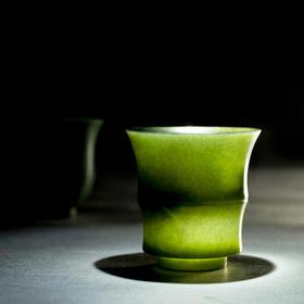 和田青玉杯 翠色如墨 昆仑四千米和田青玉 物典 2种杯型可选