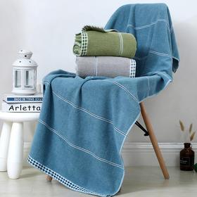 QYFZ8302新款家用纯棉吸水不掉毛大号洗澡浴巾TZF