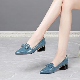 OLD-3161新款时尚气质舒适百搭浅口粗跟单鞋TZF