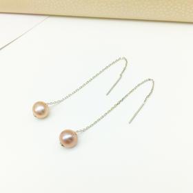 天然淡水珍珠耳线耳饰 s925银