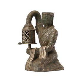 仿古错银宫灯摆件古典软装饰品人物摆件工艺礼品青铜器