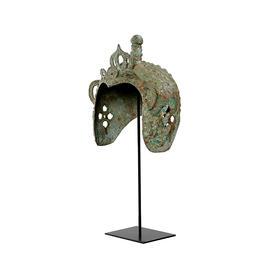 仿古青铜头盔青铜器工艺品桌面摆件软装饰品家居饰品复古