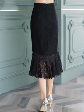 FMY30842新款优雅气质修身蕾丝半身裙TZF