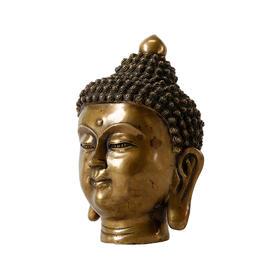 铜佛头禅意新中式摆件佛像