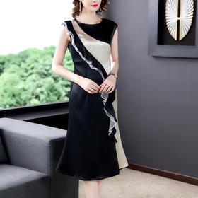 XFFS8030夏季新款缎面醋酸连衣裙TZF