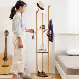 ZP新款家用落地式实木客厅卧室创意衣帽架TZF