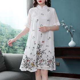 LY313新款中国风重工刺绣宽松改良连衣裙TZF