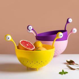 摩登主妇北欧风格小怪兽水果盘厨房洗菜盆沥水篮家用客厅水果篮子