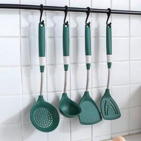 摩登主妇不粘锅专用硅胶铲耐高温汤勺家用厨具四件套厨房炒菜锅铲