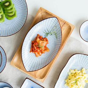 摩登主妇日式餐具鱼盘子家用新款蒸鱼盘大号创意装鱼长方形托盘