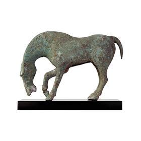 青铜饮水马加托仿古马铜马招财马到成功生肖马软装饰品
