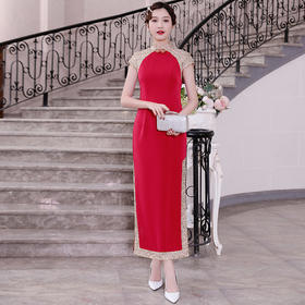 DLQ-A2377新款中国风红色改良旗袍TZF