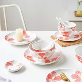 摩登主妇樱花日式陶瓷餐具碗碟组合汤面碗饭碗可爱少女心勺子套装