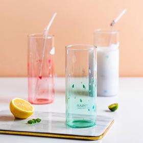 摩登主妇韩版小清新可爱卡通天气玻璃杯夏日奶茶杯饮料杯创意水杯