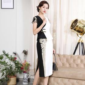 DLQ-A2552新款轻熟风洋气中国风上衣半身裙TZF