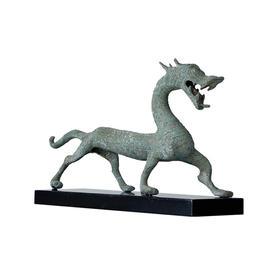 仿古青铜汉龙加托纯铜工艺品招财生肖龙中式软装饰品