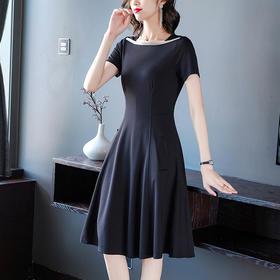 AHM-wjym9998新款时尚优雅气质修身显瘦方领中长款连衣裙TZF