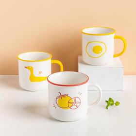 摩登主妇少女心可爱印花陶瓷马克杯水杯简约花茶杯创意牛奶杯子