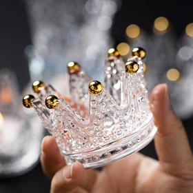 摩登主妇水晶皇冠浪漫烛台创意桌面首饰架装饰摆件品烛光晚餐道具