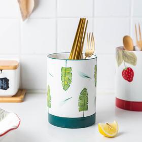 摩登主妇樱桃筷子筒筷笼家用厨房筷子篓创意可爱餐具勺子沥水筷架