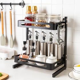 摩登主妇不锈钢厨房置物架台面调味瓶油盐酱醋收纳架多层调味料架